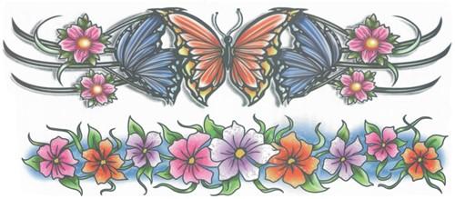 Flowers Arm Tattoos (2st.)