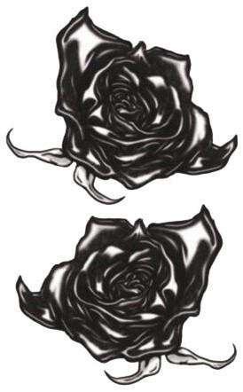 Tatoeage Zwarte Rozen