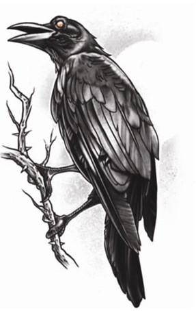 The Raven Tattoo (Goth Tattoo)