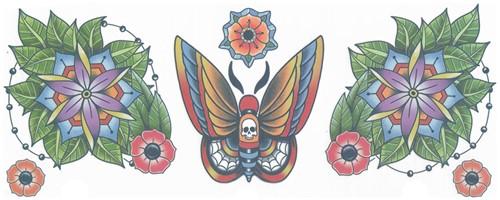 Moth Nek Tattoo