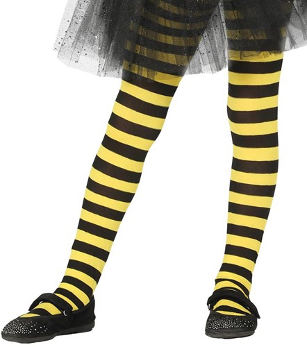 Gele en Zwarte Gestreepte Kinderpanty