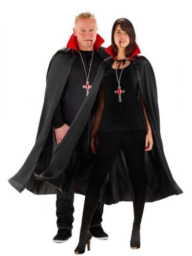 Cape Dracula Zwart/Rood met verlichting