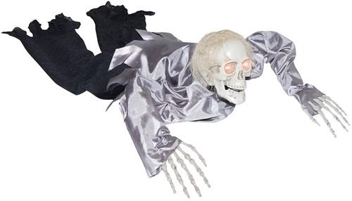 Halloween Crawling Zombie (met geluid+licht)