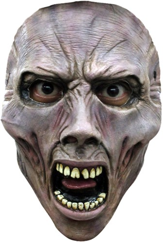 World War Z Gezichtsmasker - Scream Zombie (latex)