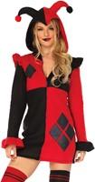 Dameskostuum Cozy Harlequin Rood-Zwart -2