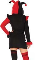 Dameskostuum Cozy Harlequin Rood-Zwart -3