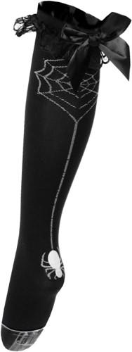 Sexy Zwarte Overknee Luxe met Spin aan Web