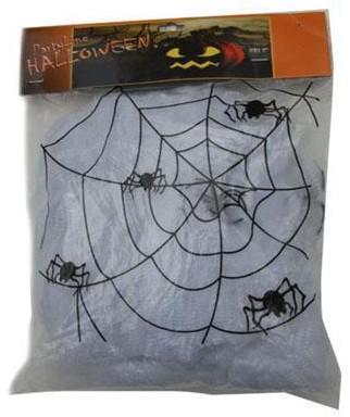 Spinnenweb Wit 50g (met 2 spinnen)