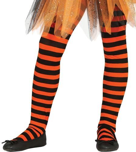 Oranje en Zwarte Gestreepte Kinderpanty