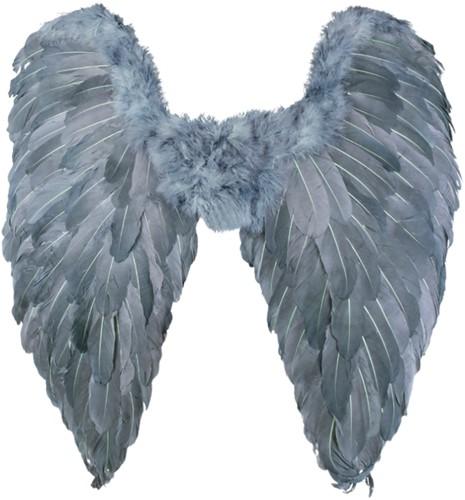 Grijze Engelen Vleugels (65 bij 65 centimeter)-2