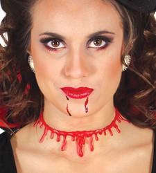Halloween Ketting Doorgesneden Nek met Bloed