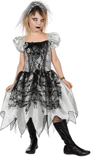 Meisjeskostuum Zombie Bruidsjurk voor kinderen