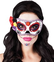 Day of the Dead La Seria Oogmasker (Paars-Rood)-2