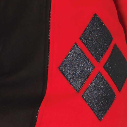 Dameskostuum Cozy Harlequin Rood-Zwart (detail)