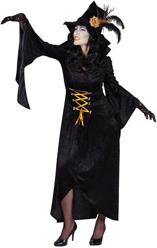 Zwarte Heksenjurk Morticia voor dames -2