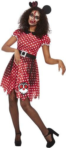 Halloweenkostuum Zombie Minnie Mouse voor dames