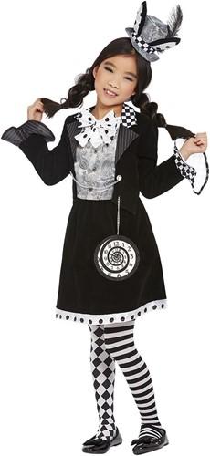 Kostuum Dark Mad Hatter Luxe voor meisjes