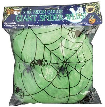 Groene Spinnenweb met daarin 2 Spinnen (50g)
