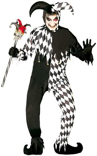 Halloweenkostuum Nar Joker Zwart/Wit