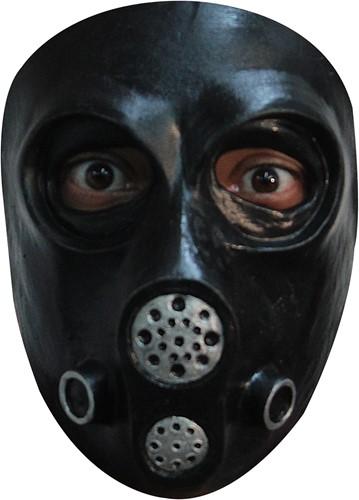 Latex Gasmasker Zwart (Gezichtsmasker)
