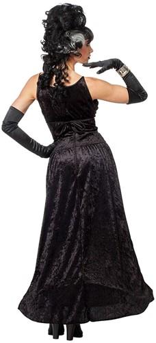 Zwarte Heksenjurk Black Angel voor dames -2