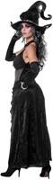 Zwarte Heksenjurk Black Angel voor dames -3