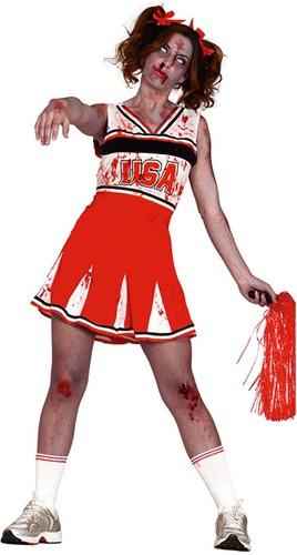 Dameskostuum Cheerleader Zombie