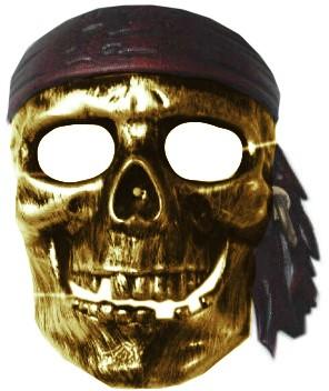Piraten Masker Goud