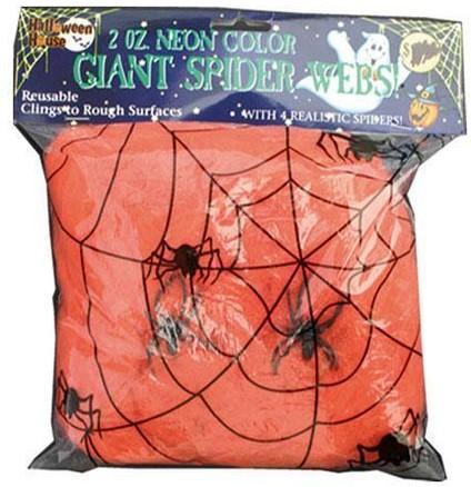 Oranje Spinnenweb met daarin 2 Spinnen (50g)
