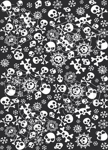 Tafelkleed Horror Doodshoofden (1,3x1,8m)