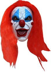 Masker Creepy Clown Latex met haar