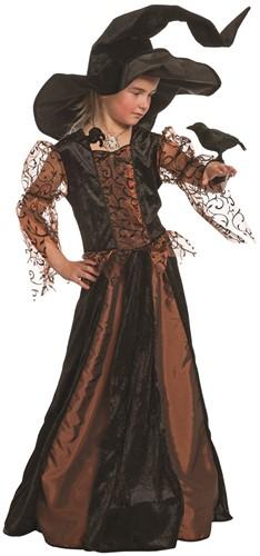 Heksenjurk Morgana Zwart/Koper voor meisjes