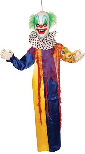 Hangdecoratie Halloween Clown met Bewegingssensor (120cm)