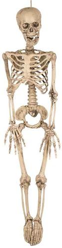 Hangdecoratie Skeleton met LED-ogen (90cm)