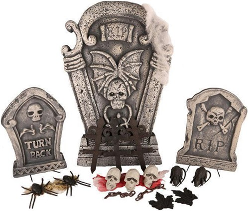 Decoratie Set Halloween met 3 Grafstenen