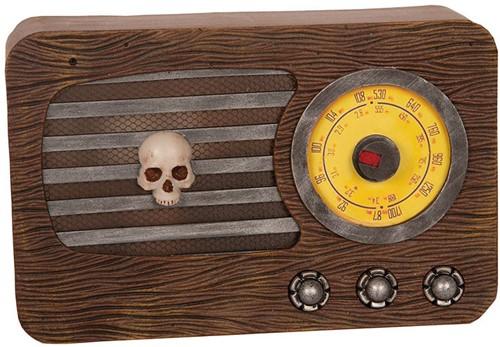 Decoratie Halloween Radio met Bewegingssensor (30x20cm)
