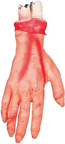 Afgerukt Bebloed Hand