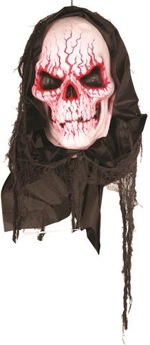 Halloween Hangdecoratie Bloody Skull met Bewegingssensor (90cm)
