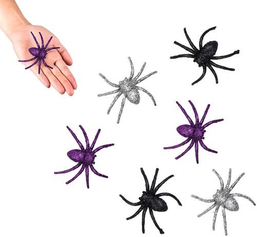 Spinnen met Glitter (6st)