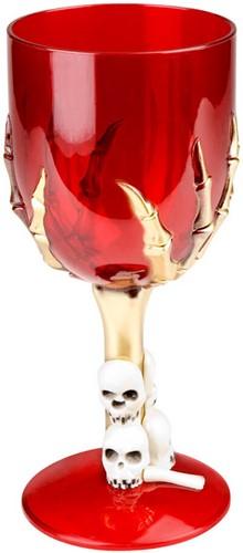 Wijnglas Skelettenhand