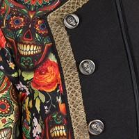 Halloween Heren Jas Mexican Skull Coloured-3