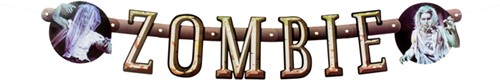 Letterslinger Zombie met Zombies (1m)