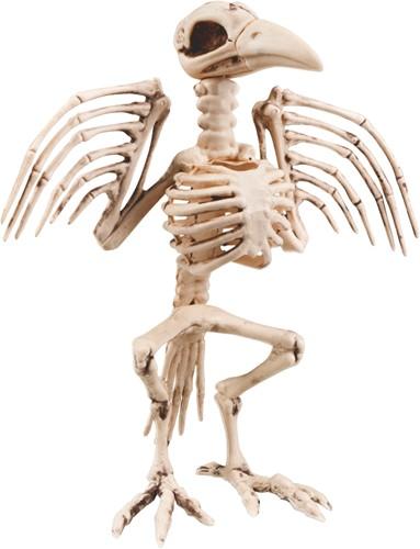 Halloween Decoratie Skelet Kraai (32cm)
