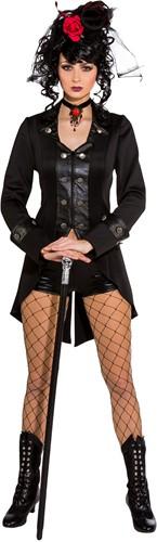 Gothic Damesjas Zwart Luxe