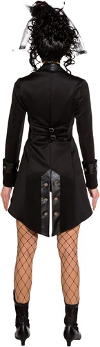 Gothic Damesjas Zwart Luxe-3