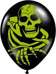 Ballonnen Halloween Skelet (8st)