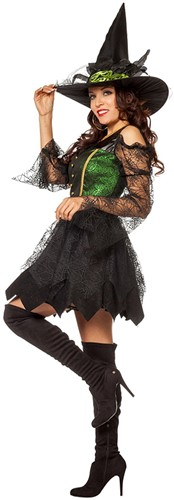 Heksenjurk Green Witch Luxe -2