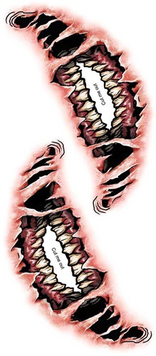 Special FX Big Mouth Tattoo - Demon-2