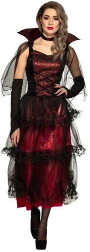 Dames Midnight Vamp Vampier Kostuum