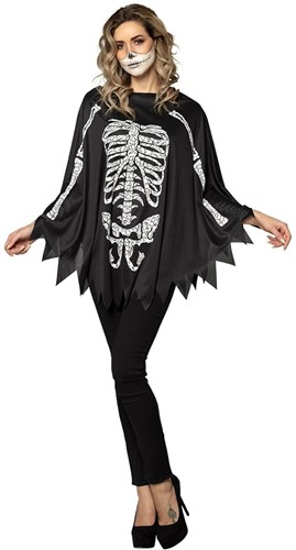 Skelet Poncho Halloween